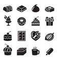 chocolate icons vector image vector image