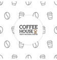 coffee pattern or seamless background design vector image