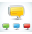 colorful 3d bubble speech icon vector image vector image