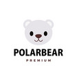 cute polar bear flat logo icon vector image vector image