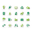 ecology environment and nature icons 2 vector image