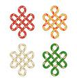 endless auspicious knot vector image