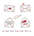 envelope with heart wax seal write a vector image