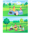 friends on summer vacation spending time together vector image vector image