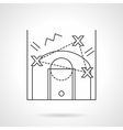 Game tactic flat line design icon vector image vector image