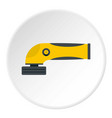 grinder machine icon circle vector image vector image