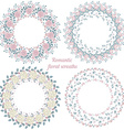 Hand drawn floral frames Circle natural wreaths vector image vector image