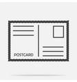 icon postcard vector image vector image
