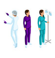 isometry of a woman medical workers vector image vector image
