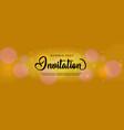 luxury golden invitation card template design vector image vector image