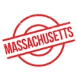 Massachusetts rubber stamp vector image vector image