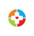 medical pharmacy logo design difference design vector image