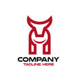 modern bull and logo wrench vector image vector image