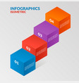 modern isometric infographics steps elemsnts vector image vector image