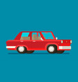 old car flat styled vector image