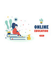 online school education children landing page vector image vector image