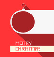 Paper Christmas Ball - Merry Christmas Title on vector image vector image