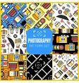 Photography seamless patterns set