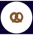 Pretzel computer symbol vector image vector image