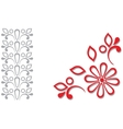 Red grey ornamental frame vector image vector image