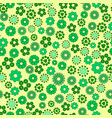 seamless texture of green flowers and geometric vector image vector image