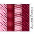 set of seamless pomegranate patterns vector image vector image