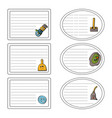 set of stickers of the concept of cleaning vector image vector image