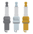 spark plugs vector image vector image