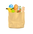 Supermarket Carrier Paper Bag With Food vector image vector image