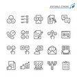 survey line icons vector image vector image
