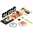 sushi set restaurant vector image