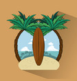 tropical surfing lifestyle theme vector image vector image