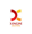 x letter icon for engine solutions vector image