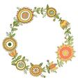 floral wreath decorative frame vector image
