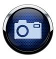 Blue honeycomb photo icon vector image