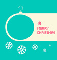 Flat Design Retro Blue Merry Christmas Card vector image