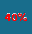 10 off a discount ten percent numbers in the vector image vector image