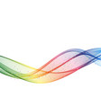 abstract motion smooth color wave curve vector image vector image