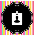 badge symbol icon vector image vector image