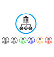 bank cashout rounded icon vector image vector image