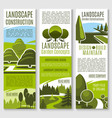banners for nature landscaping company vector image vector image