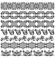 black oriental ottoman border design two vector image vector image