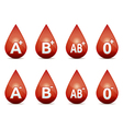 Blood type vector image vector image