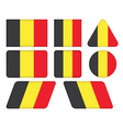 buttons with flag of Belgiu vector image