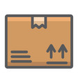 carton box filled outline icon logistic delivery vector image vector image