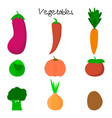 cartoon cute vegetables vector image