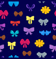 cartoon gift bows seamless pattern background vector image vector image