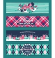 Christmas and New Year Set Plaid backgrounds vector image vector image