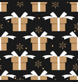 christmas elements seamless pattern vector image