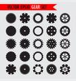 cogwheels silhouette set vector image vector image